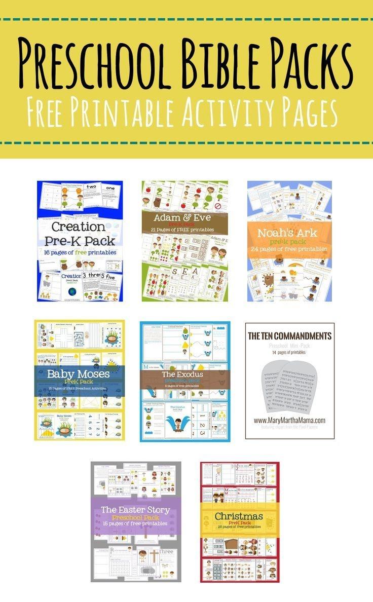 Free Preschool Bible Packs – Mary Martha Mama- Free Printable Bible - Free Printable Bible Crafts