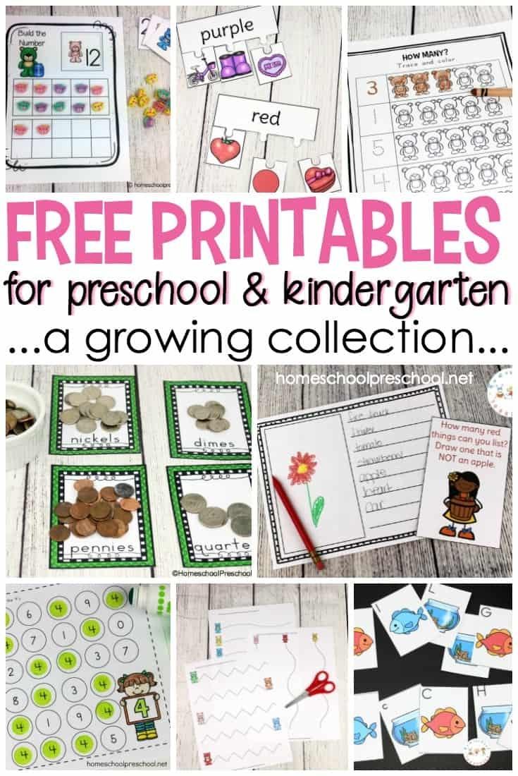 Free Preschool Printables For Your Homeschool Preschool - Free Homeschool Printable Worksheets