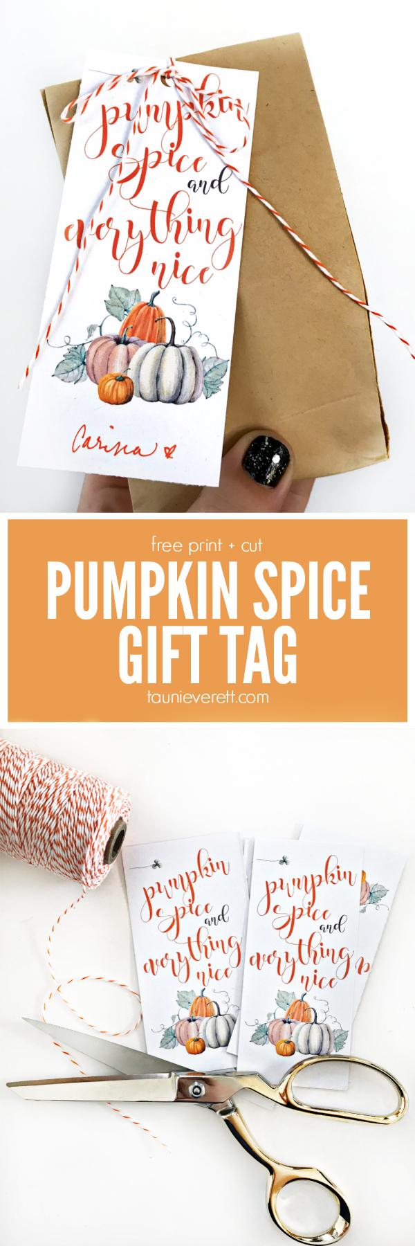 Free Print And Cut Pumpkin Spice Gift Tag #pumpkin #pumpkinspice - Free Printable Pumpkin Gift Tags