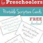 Free Printable: 10 Bible Verses To Teach Your Preschooler | Faith   Free Printable Kjv Bible Study Lessons