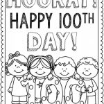 Free Printable 100 Days Of School Coloring Pages | First Grade   100 Days Of School Free Printables