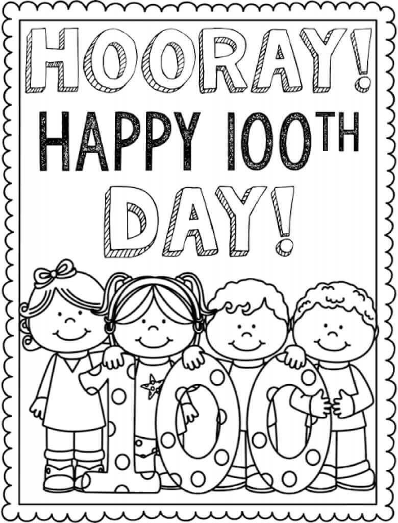 Free Printable 100 Days Of School Coloring Pages | First Grade - 100 Days Of School Free Printables