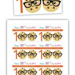 Free Printable: 100Th Day Of School   One Smart Cookie | Free   100Th Day Of School Printable Glasses Free