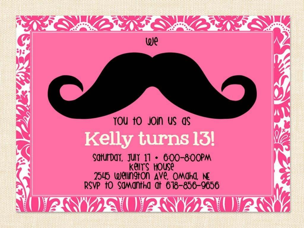 Free Printable 13Th Birthday Party Invitations For Girls. Oh Yes - 13Th Birthday Cards Printable Free