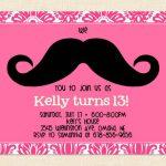 Free Printable 13Th Birthday Party Invitations For Girls. Oh Yes   13Th Birthday Party Invitations Printable Free