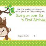 Free Printable 1St Monkey Birthday | Birthday Invitation For Kids   Jungle Theme Birthday Invitations Free Printable