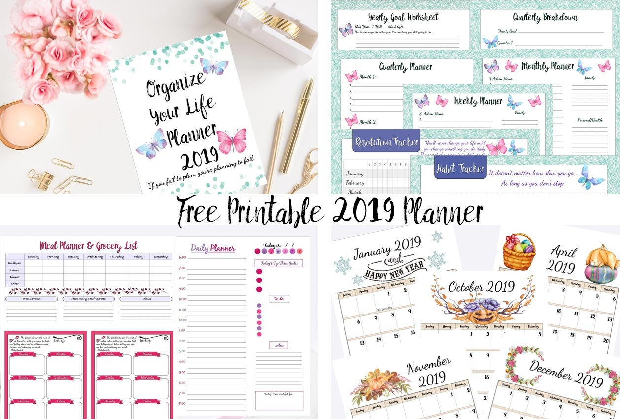 Free Printable 2019 Planner: Goals Planner, 2019 Calendars, & More! - Free Printables Com