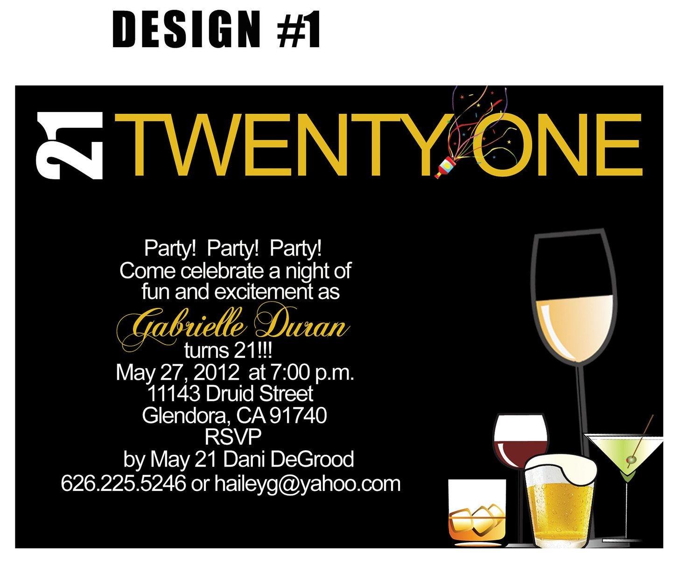 Free Printable 21St Birthday Invitations Templates 21St Birthday - 21St Birthday Invitation Templates Free Printable
