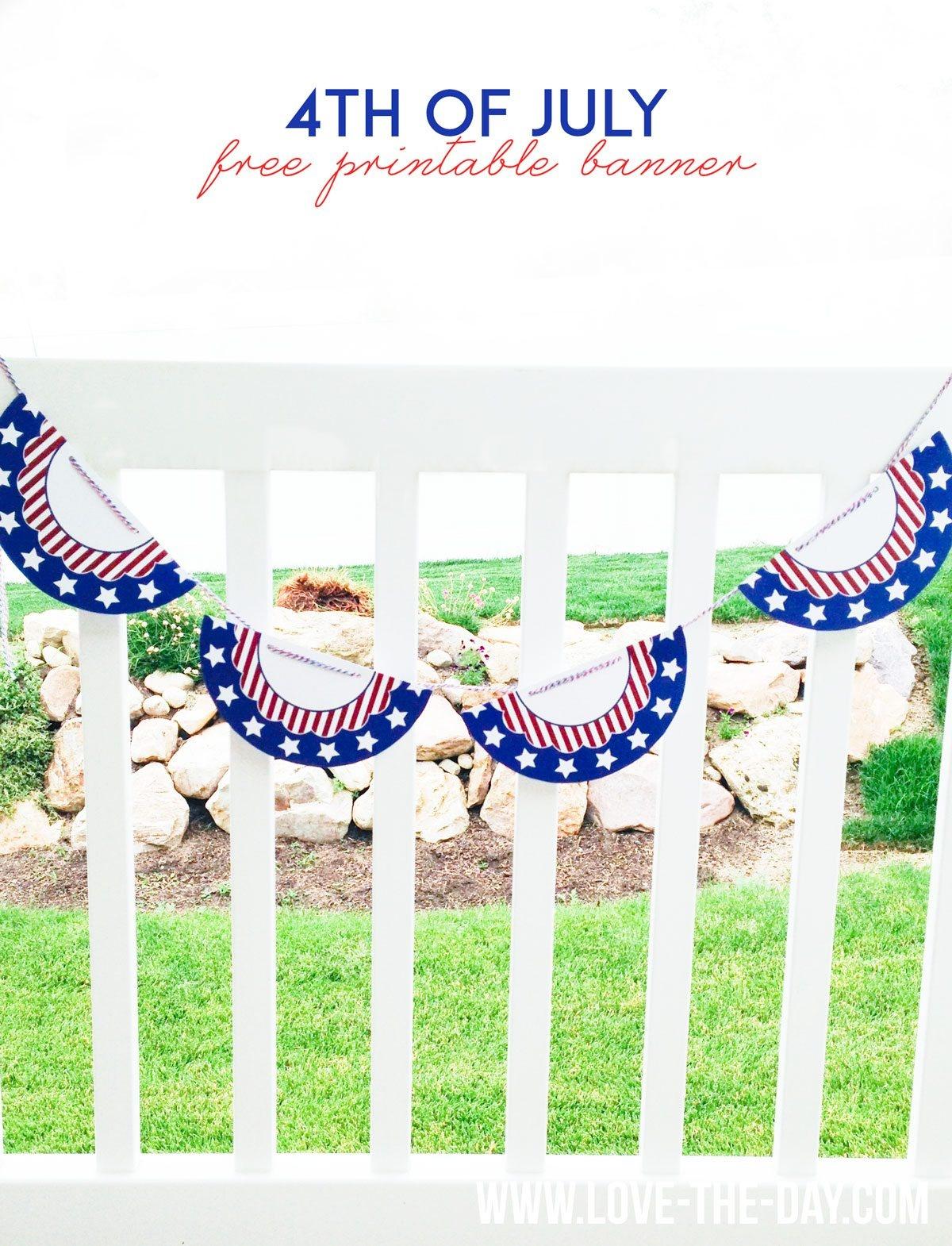 Free Printable 4Th Of July Buntinglindi Haws Of Love The Day - Free Printable 4Th Of July Pictures