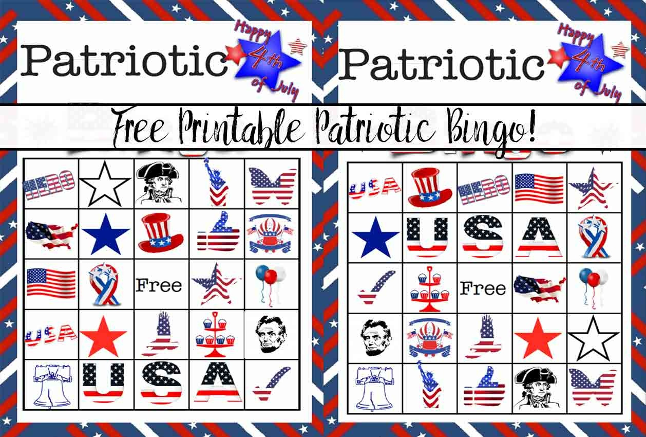 Free Printable 4Th Of July Patriotic Bingo - Free Printable 4Th Of July Pictures