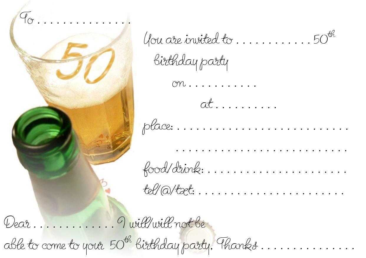 Free Printable 50Th Birthday   Free Printable Birthday Invitation - Free Printable Surprise 40Th Birthday Party Invitations