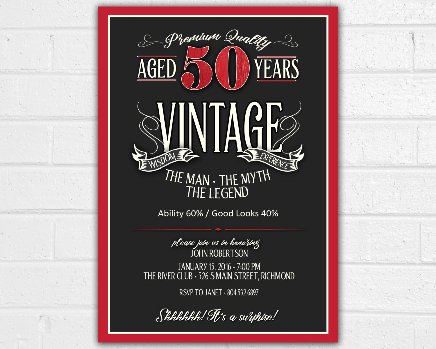 Free Printable 60Th Birthday Party Invitations — Birthday Invitation - Free Printable Birthday Invitations For Him