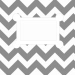 Free Printable. 8.5 X 11, Letter Size, Binder Cover Template. Grey   Free Printable Chevron Templates