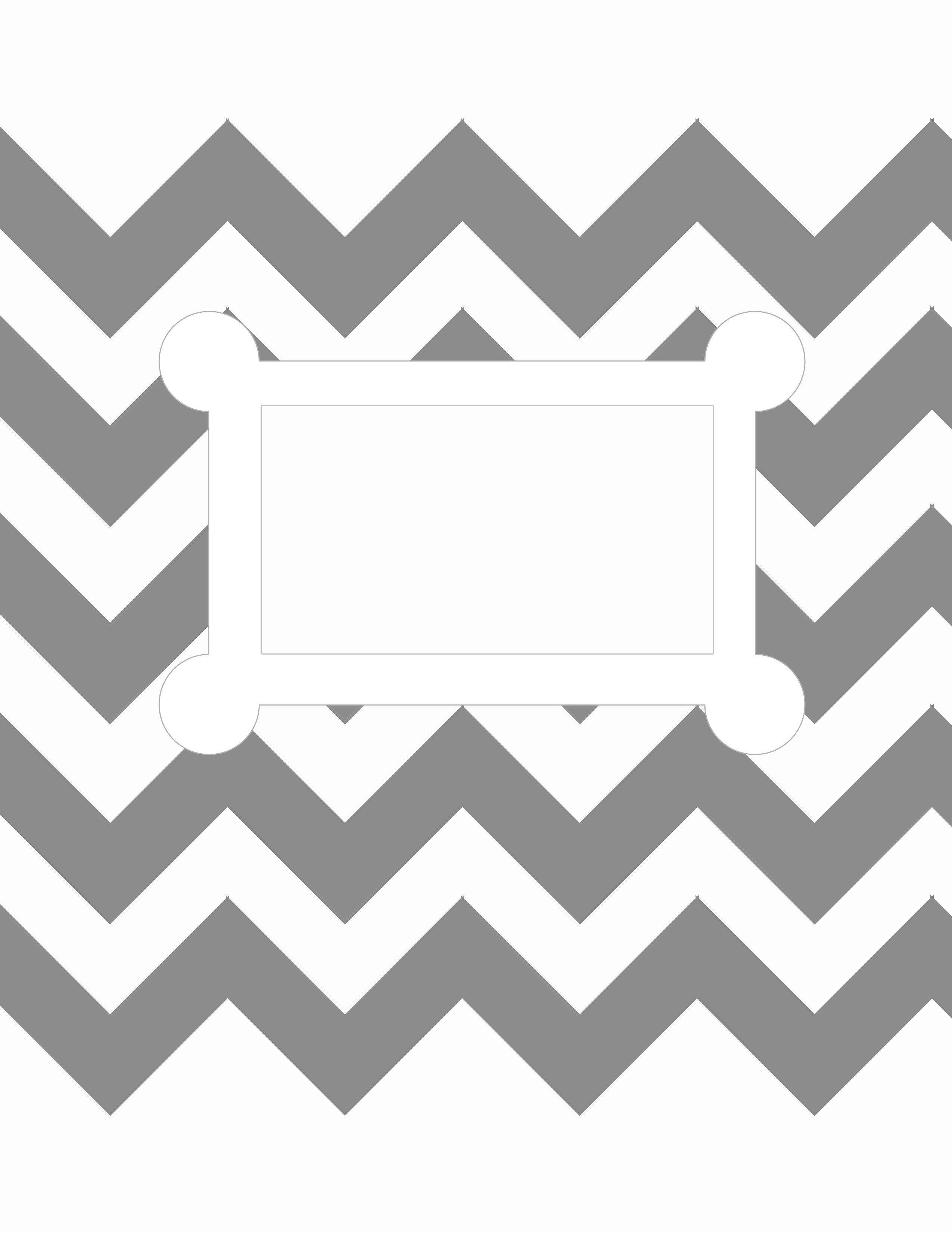 Free Printable. 8.5 X 11, Letter Size, Binder Cover Template. Grey - Free Printable Chevron Templates