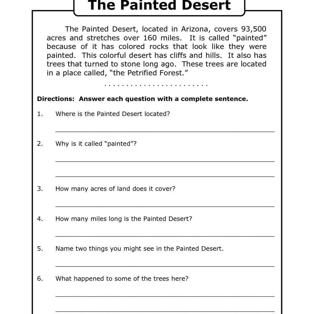 Free Printable 8Th Grade Reading Comprehension Worksheets 17 - Free Printable Comprehension Worksheets For Grade 5