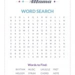 Free Printable: A Music Themed Word Search — Musical Mama   Free Printable Music Word Searches