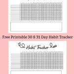 Free Printable A5 Habit Tracker   The Petite Planner   Free Printable Habit Tracker