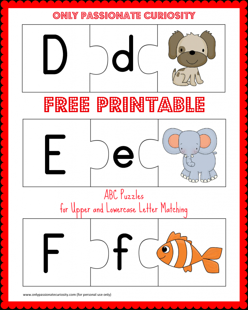 Free Printable Abc Puzzles: Upper And Lowercase Letter Matching - Abc Printables Free