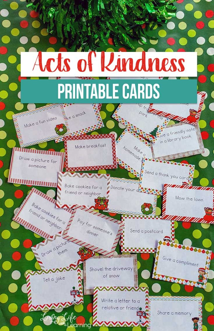 Free Printable Acts Of Kindness Holiday Cards - Money Saving Mom - Make A Holiday Card For Free Printable