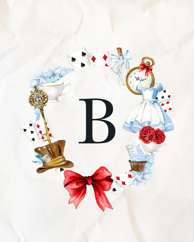 Free Printable Alice In Wonderland Monograms | The Cottage Market - Alice In Wonderland Free Printables