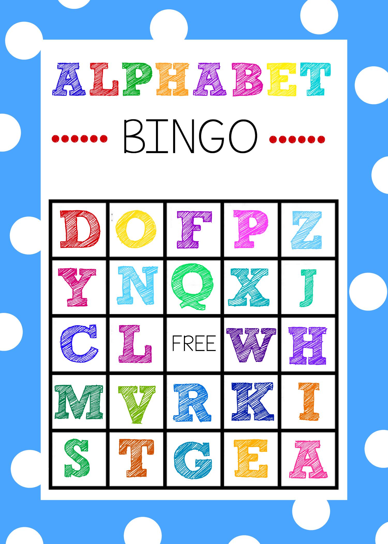 Free Printable Alphabet Bingo Game - Abc Printables Free