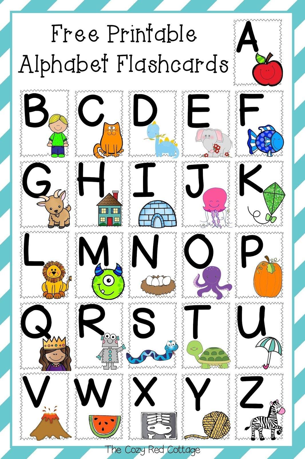 Free Printable Alphabet Flashcards | Parenting | Alphabet, Free - Free Printable Abc Flashcards