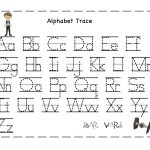 Free Printable Alphabet Letter Tracing Worksheets | Angeline   Free Printable Letter Tracing Sheets