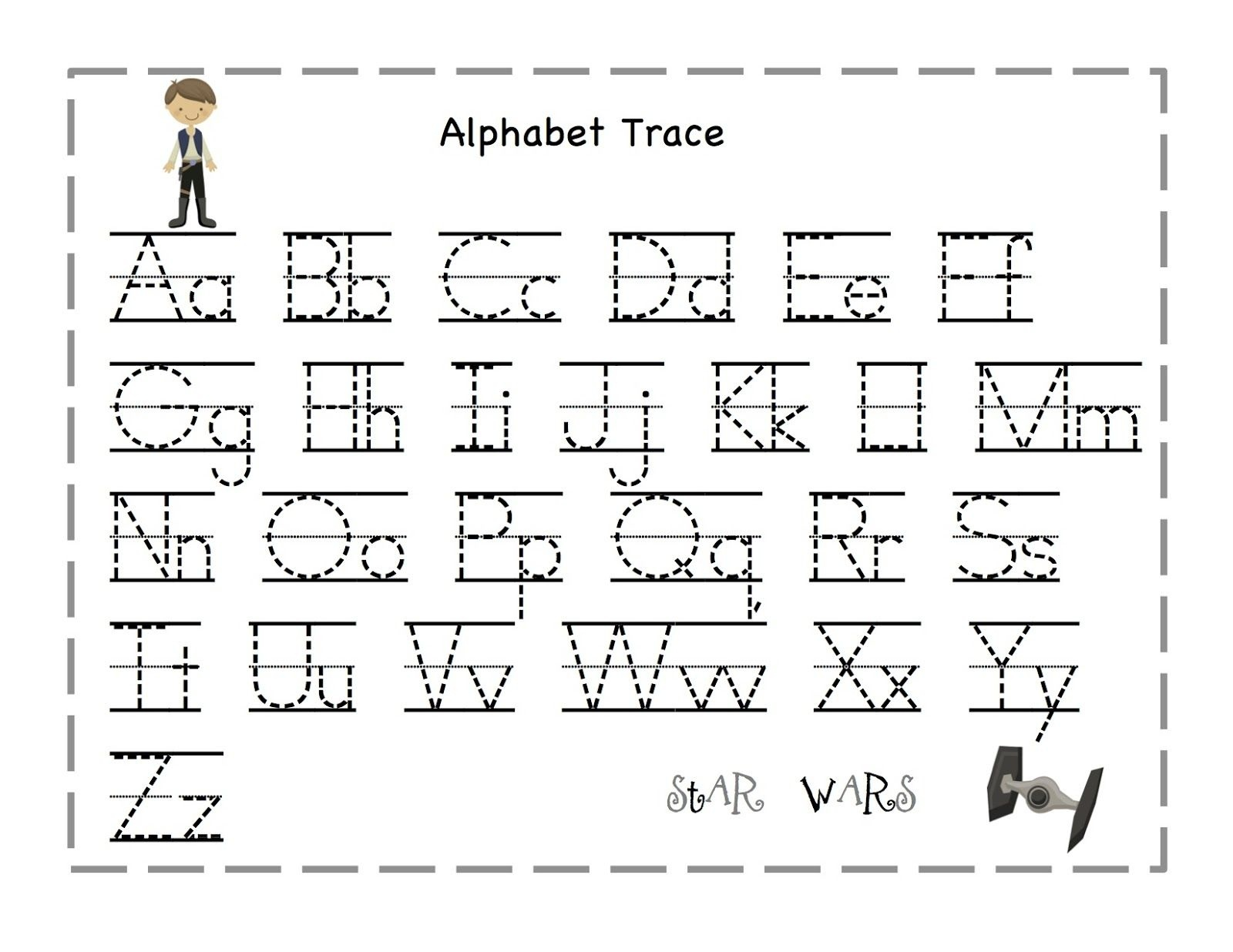 Free Printable Alphabet Letter Tracing Worksheets | Angeline - Free Printable Tracing Worksheets