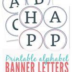 Free Printable Alphabet Letters Banner | Theveliger   Free Printable Alphabet Letters For Banners
