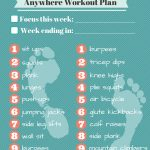"""Free Printable: Am/pm Workout Plan 