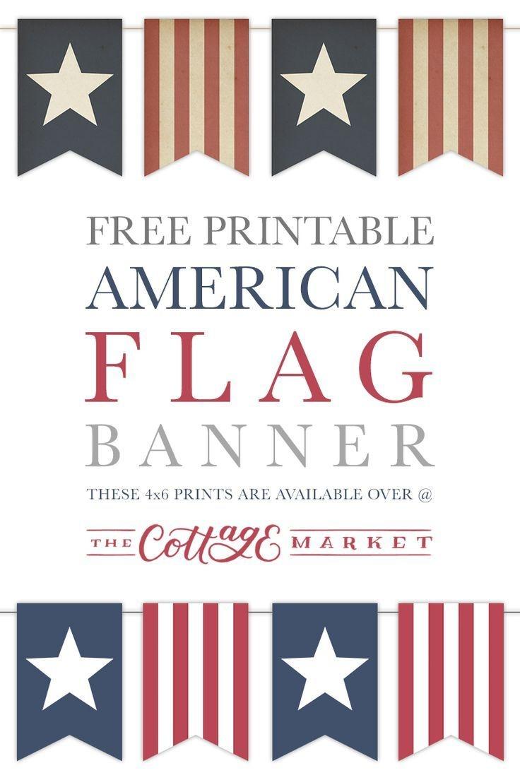 Free Printable American Flag Banner   God Bless America   American - Free Printable God Bless Banner