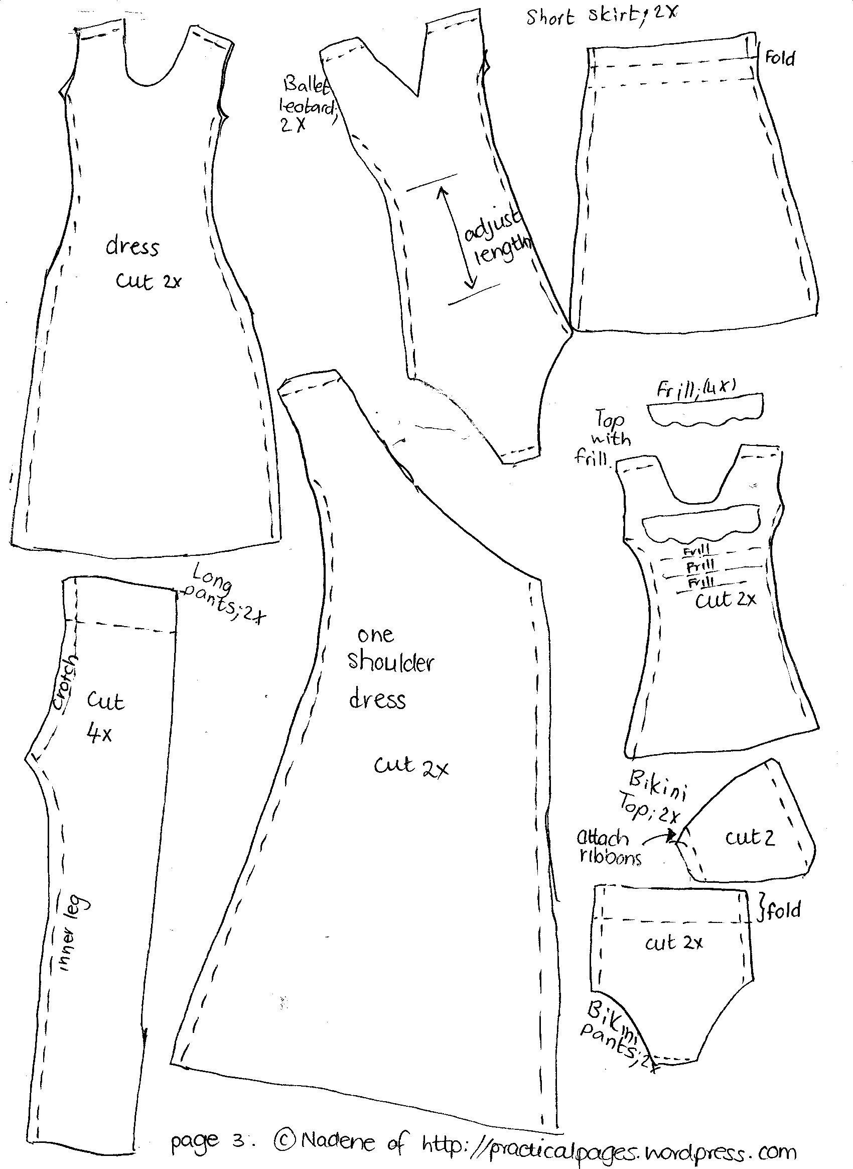 Free Printable American Girl Doll Clothes Patterns Awesome Make A - American Girl Clothes Patterns Free Printable