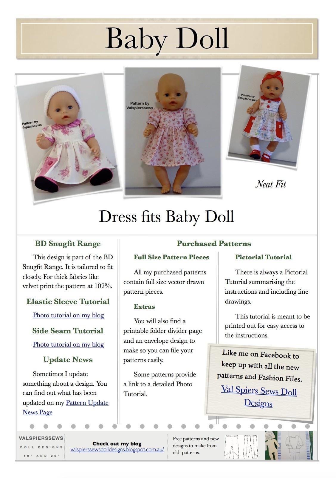 Free Printable American Girl Doll Clothes Patterns Lovely Doll - American Girl Clothes Patterns Free Printable