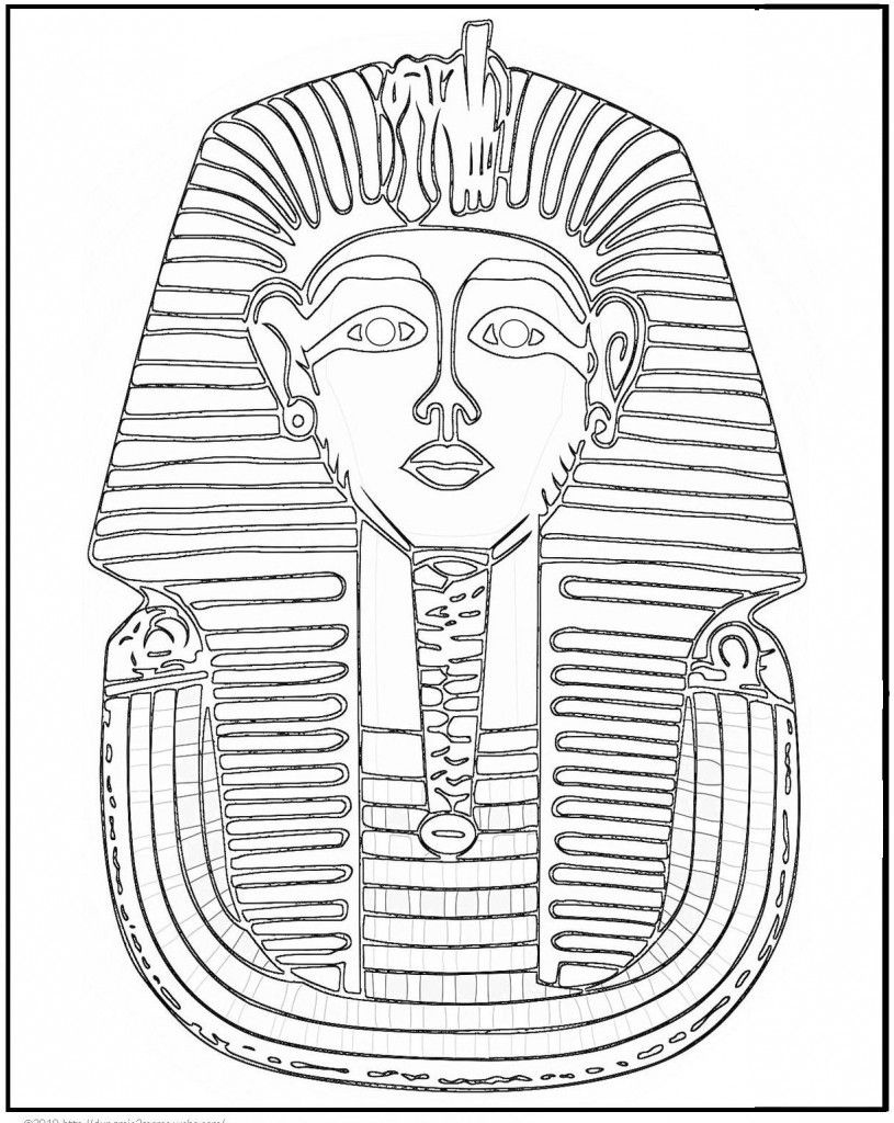 Free Printable Ancient Egypt Coloring Pages For Kids | Ancient Egypt - Free Printable Sarcophagus