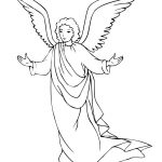 Free Printable Angel Coloring Pages For Kids | Printables | Angel   Free Printable Angels