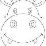 Free Printable Animal Masks Templates | Hippo Mask Printable   Free Printable Lion Mask