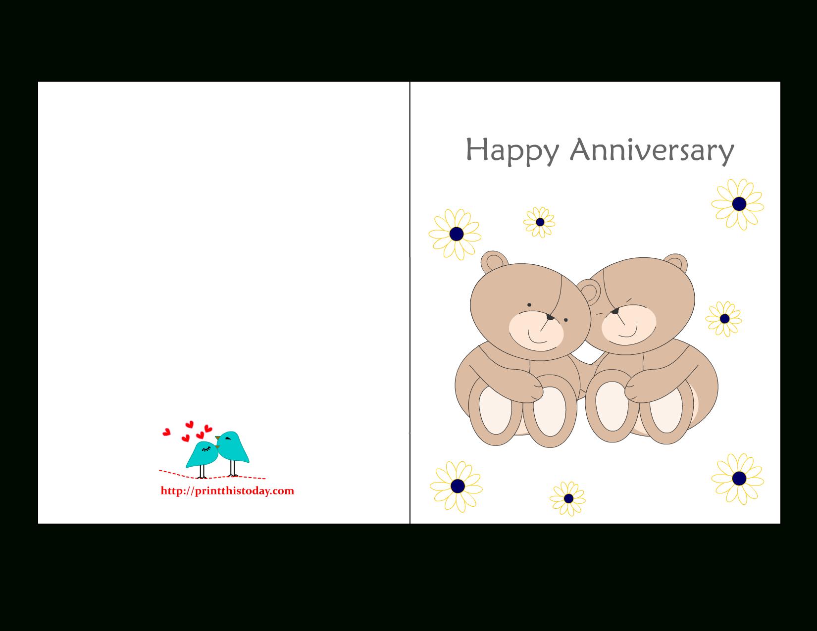 Free Printable Anniversary Cards - Free Anniversary Printables