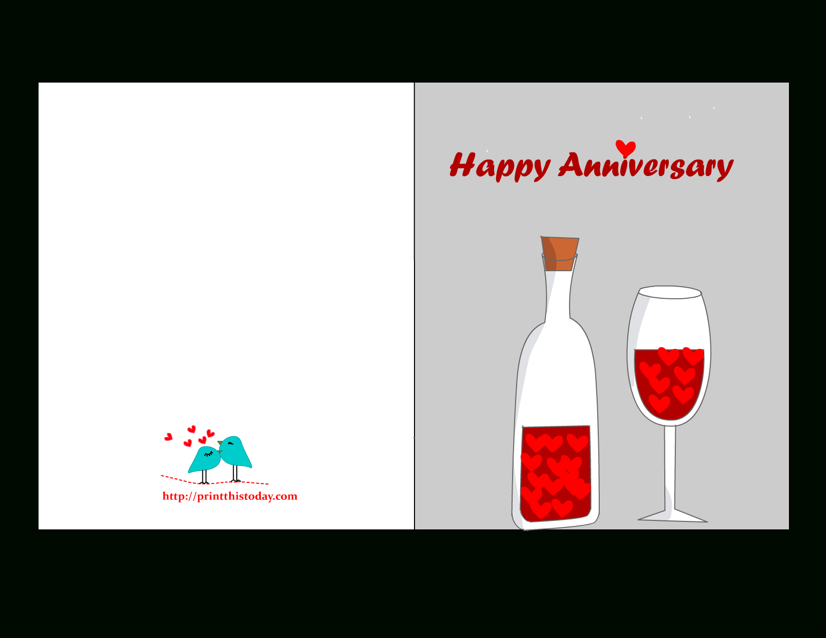 Free Printable Anniversary Cards - Free Printable Anniversary Cards For Couple