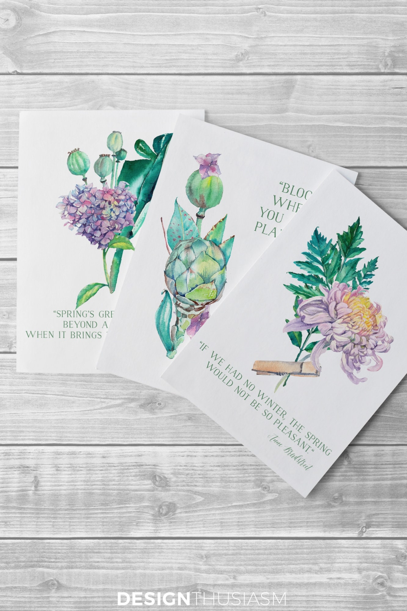 Free Printable Art For Spring: Watercolor Flowers For Diy Wall Decor - Free Watercolor Printables