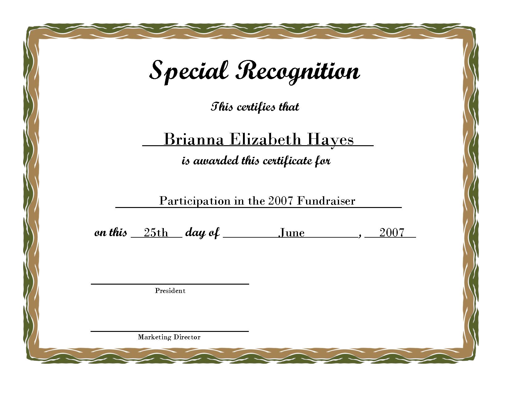 Free Printable Award Certificate Borders | Free Printable - Free Printable Certificates