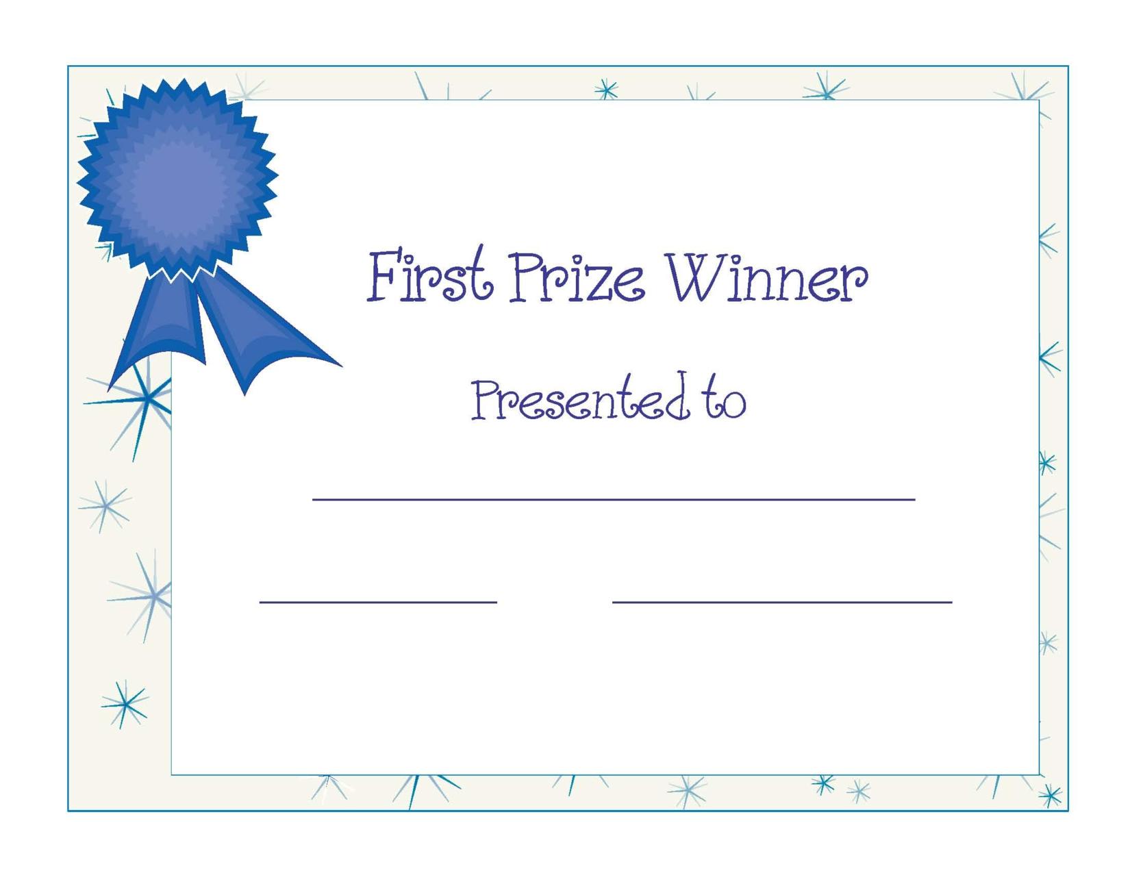 Free Printable Award Certificate Template   Free Printable First - Good Behaviour Certificates Free Printable