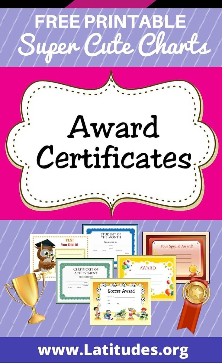 Free Printable Award Certificates For Kids | Homeschool | Award - Free Printable Reward Certificates