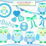 Free Printable Baby Clip Art | Baby Owl Boy   Clipart   Baby Shower   Free Printable Baby Shower Clip Art