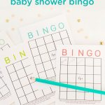 Free Printable Baby Shower Bingo Cards | Baby Shower Ideas | Baby   Free Printable Baby Shower Bingo For 50 People