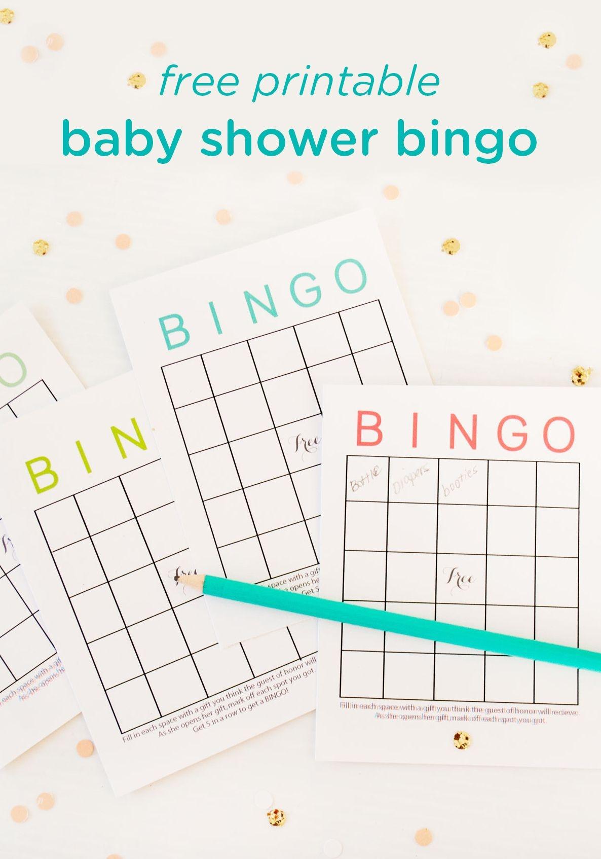 Free Printable Baby Shower Bingo Cards | Baby Shower Ideas | Baby - Free Printable Baby Shower Bingo For 50 People