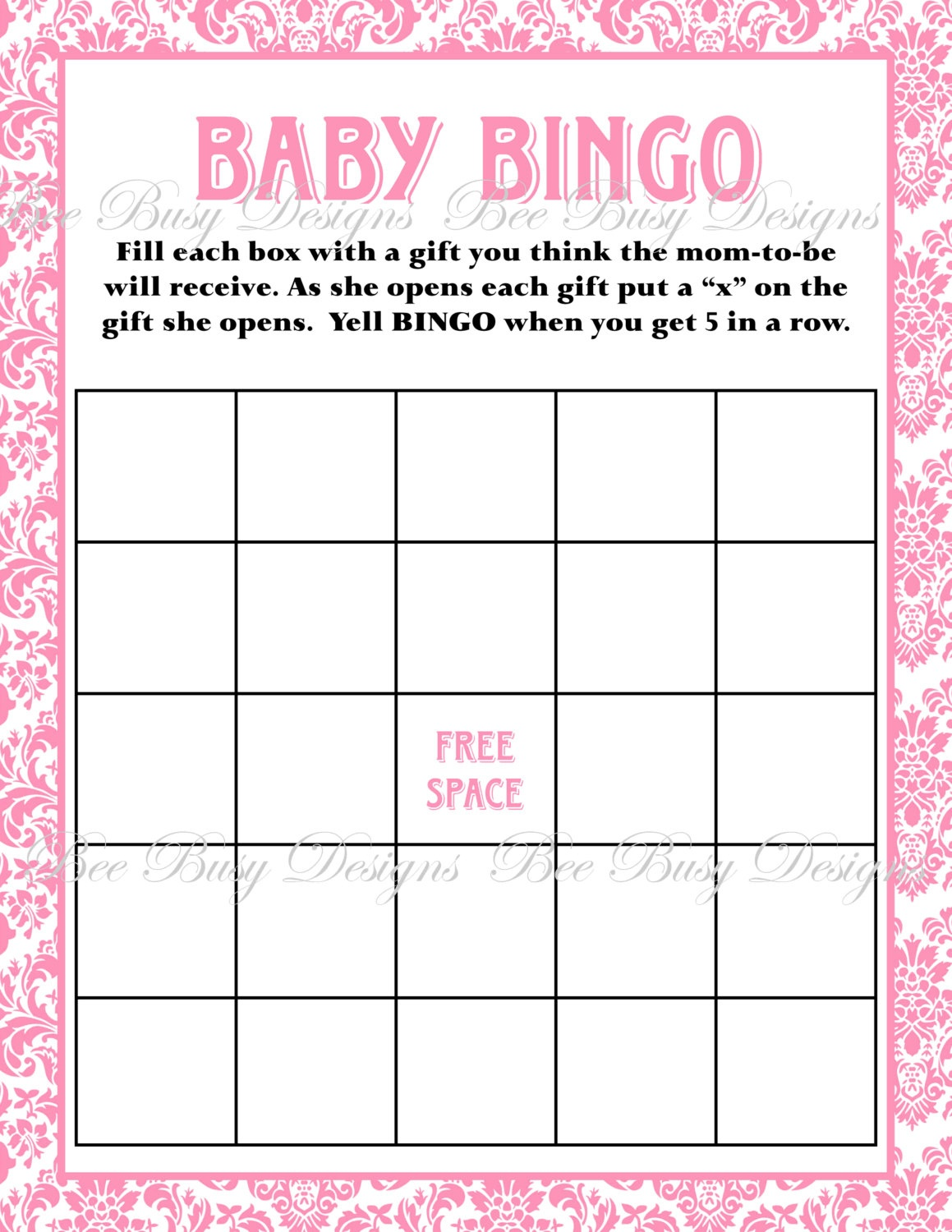Free Printable Baby Shower Bingo Cards For 30 People (86+ Images In - Free Printable Baby Shower Bingo For 50 People