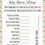 Free Printable Baby Shower Games Price Is Right Game … | Shower   Free Printable Price Is Right Baby Shower Game
