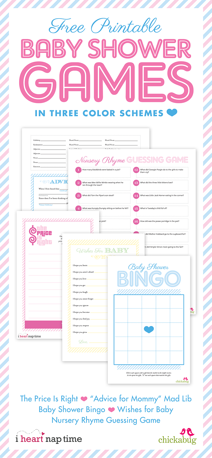 Free Printable Baby Shower Games {With I Heart Nap Time} | Chickabug - Free Printable Baby Shower Games Who Knows Mommy The Best