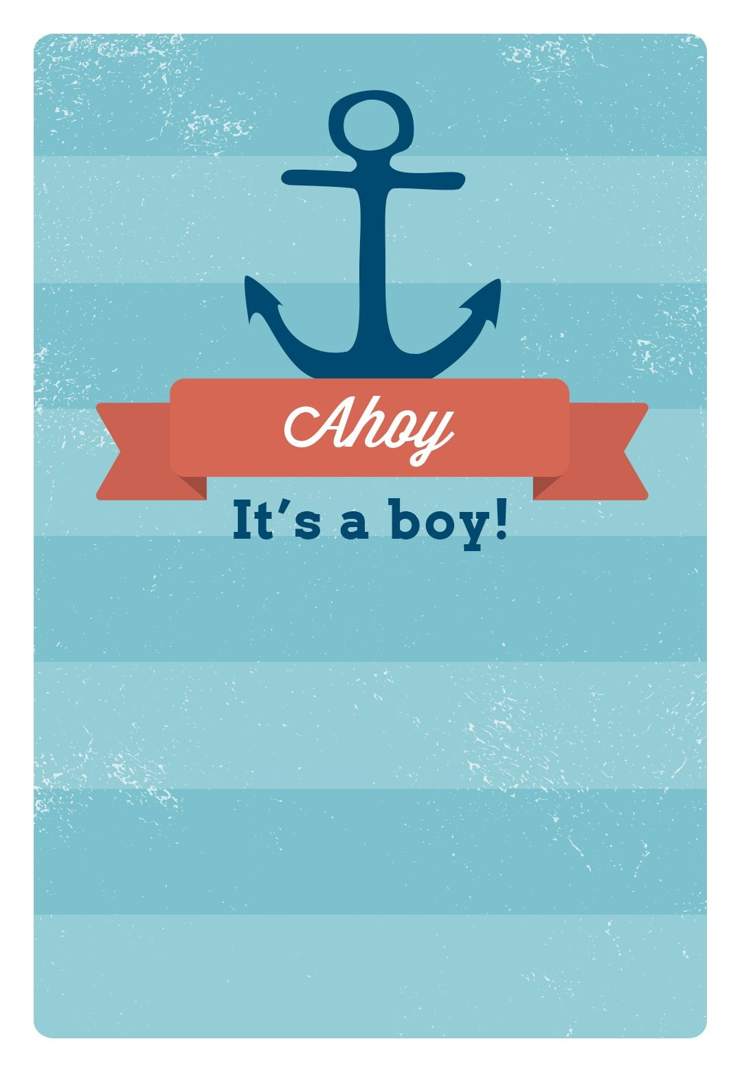 Free Printable Baby Shower Invitation - Ahoy It's A Boy | Greetings - Baby Shower Invitations Free Printable For A Boy