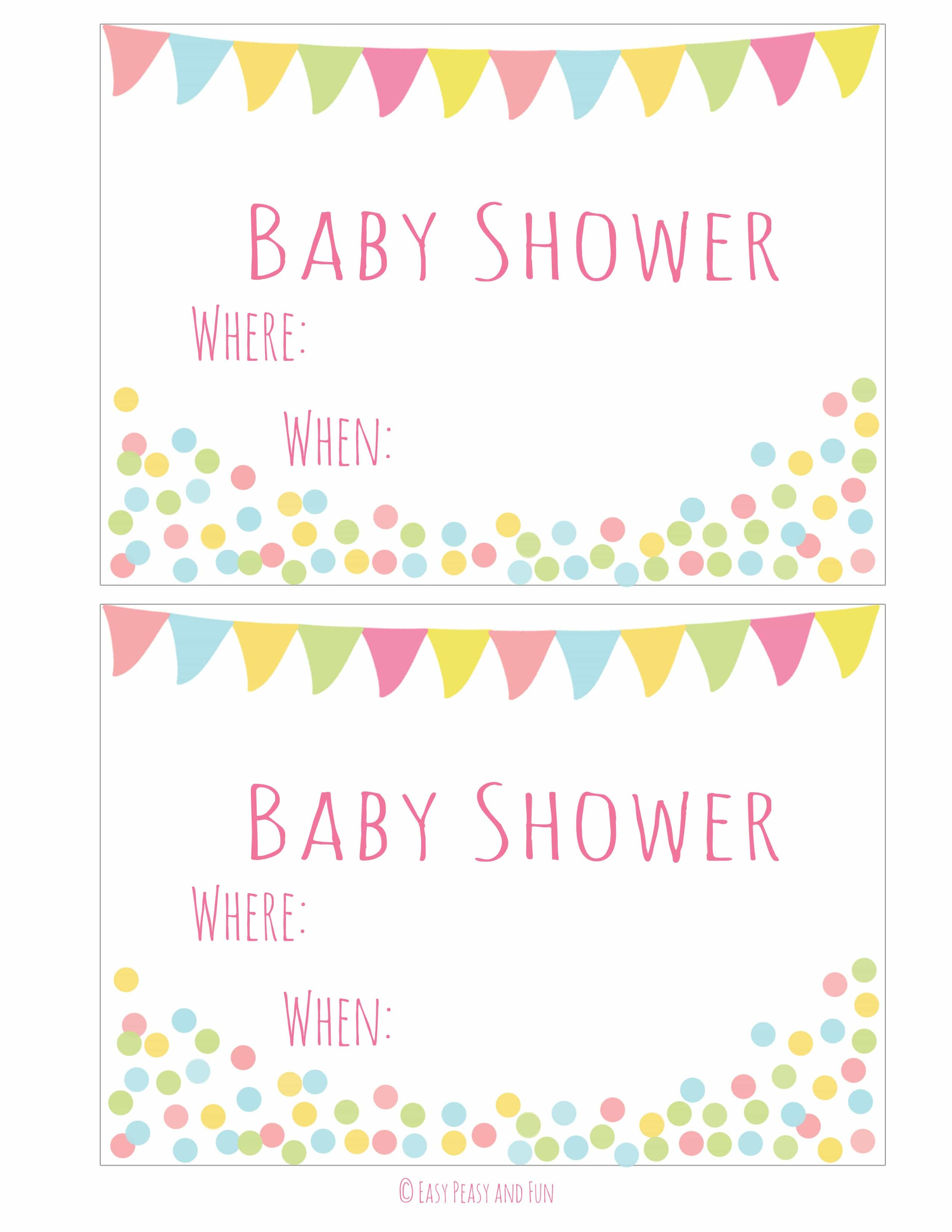 Free Printable Baby Shower Invitation - Easy Peasy And Fun - Free Printable Baby Shower Invitations For Girls